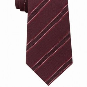 KENNETH COLE REACTION CLASSIC BURGUNDY STRIPE TIE